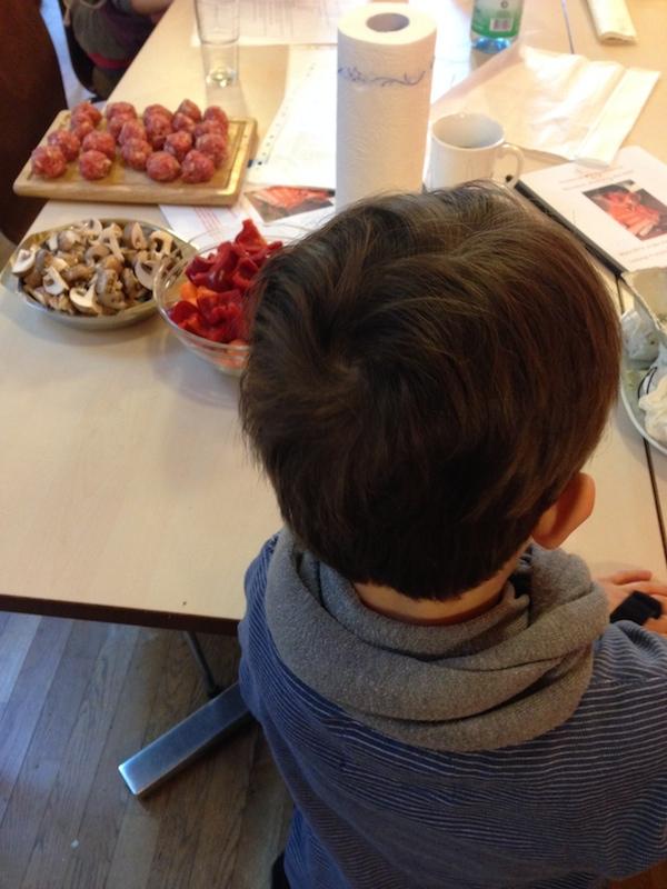 Kochen mit Enkel