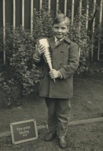 Erster Schultag Opa