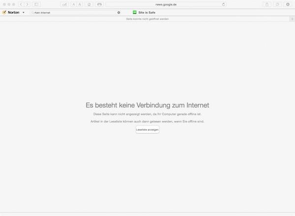 Kein Internet