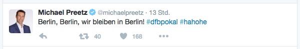 Wir bleiben in Berlin