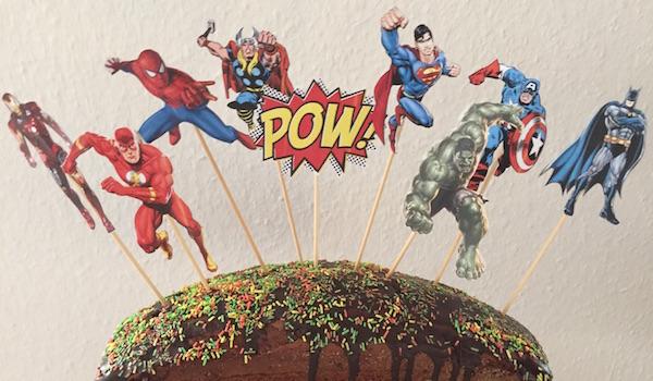 Superhelden-Kuchen